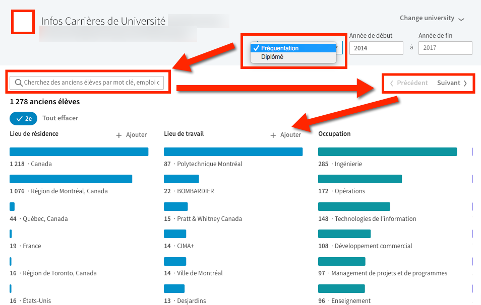 Page Education Utiliser Linkedin
