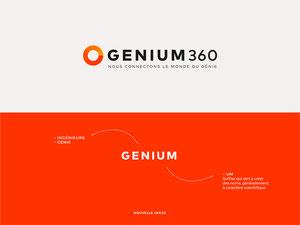 Démarche créative : explication du nom Genium360 et de sa sig...