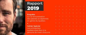La rémunération des salariés en génie au Québec a augmenté en...